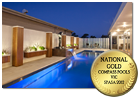 A Compass pool with Gold Spasa Award