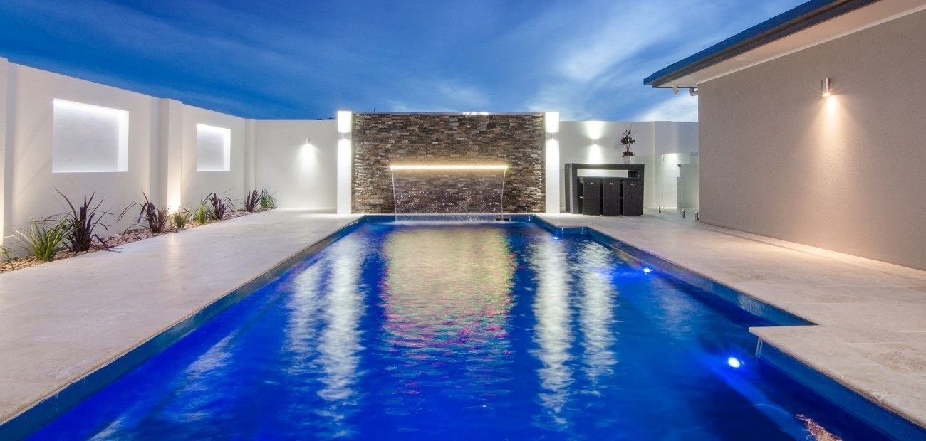 Canberra pool project Fibreglass pools can look stunning and are also customisable