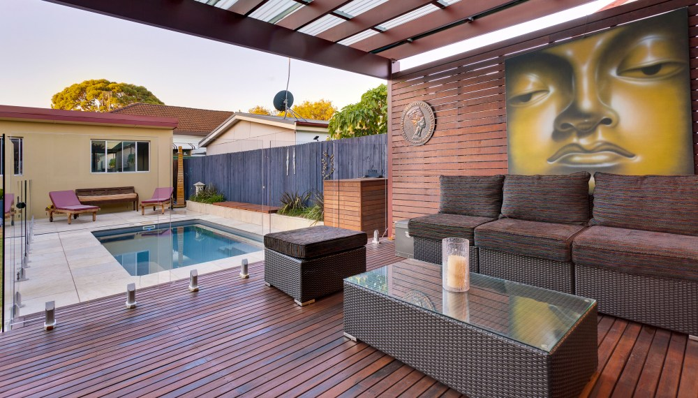 A beautiful use of the space in the backyard - a Compass Pool