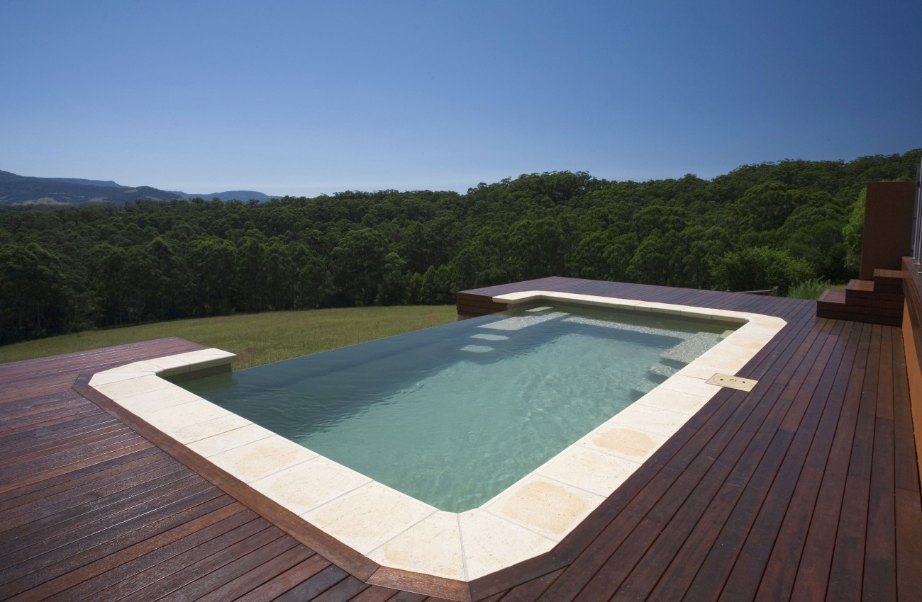 Above ground fibreglass pool