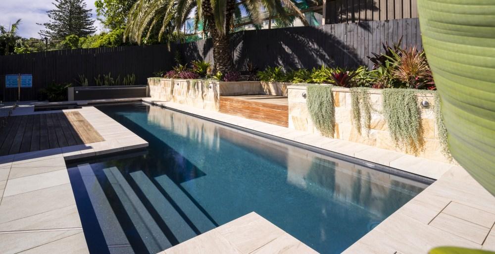 Backyard lap pools