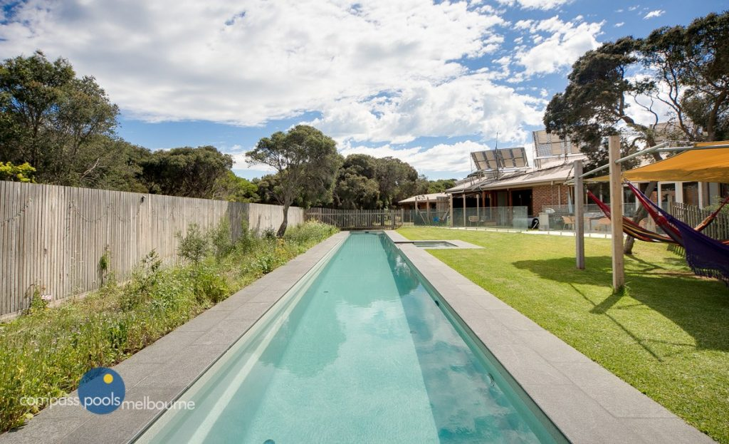 Custom length Fastlane lap pool built by Compass Pools Melbourne