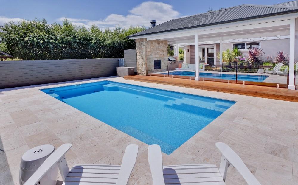 Large backyard pool design idea