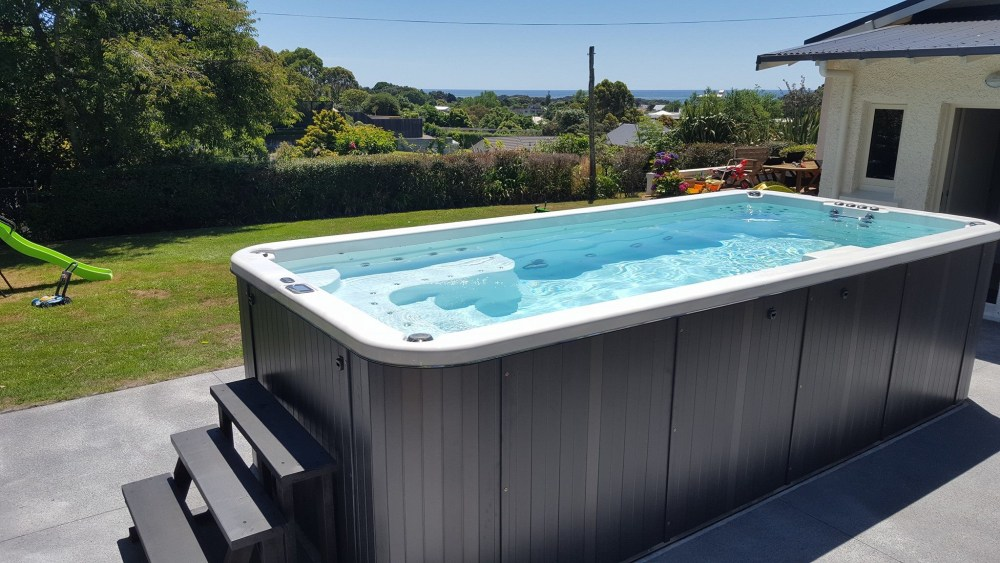 Small above ground pools Swim spas from Sapphire Spas